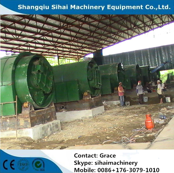 10 tons waste tyre recycling plant