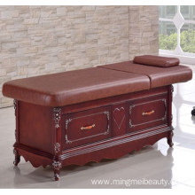 European style with drawers wooden Facial Bed