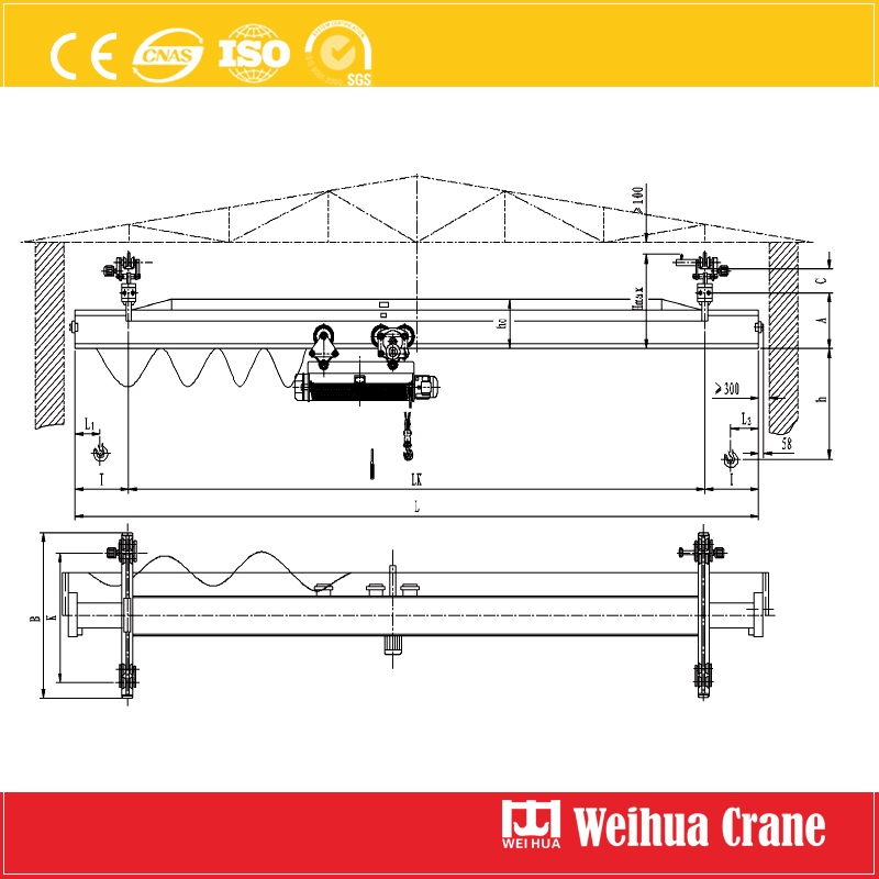 Electric Suspension Crane Sketch