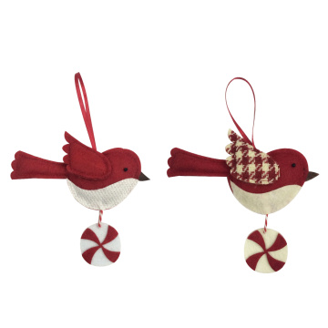 Christmas little bird hanging ornaments