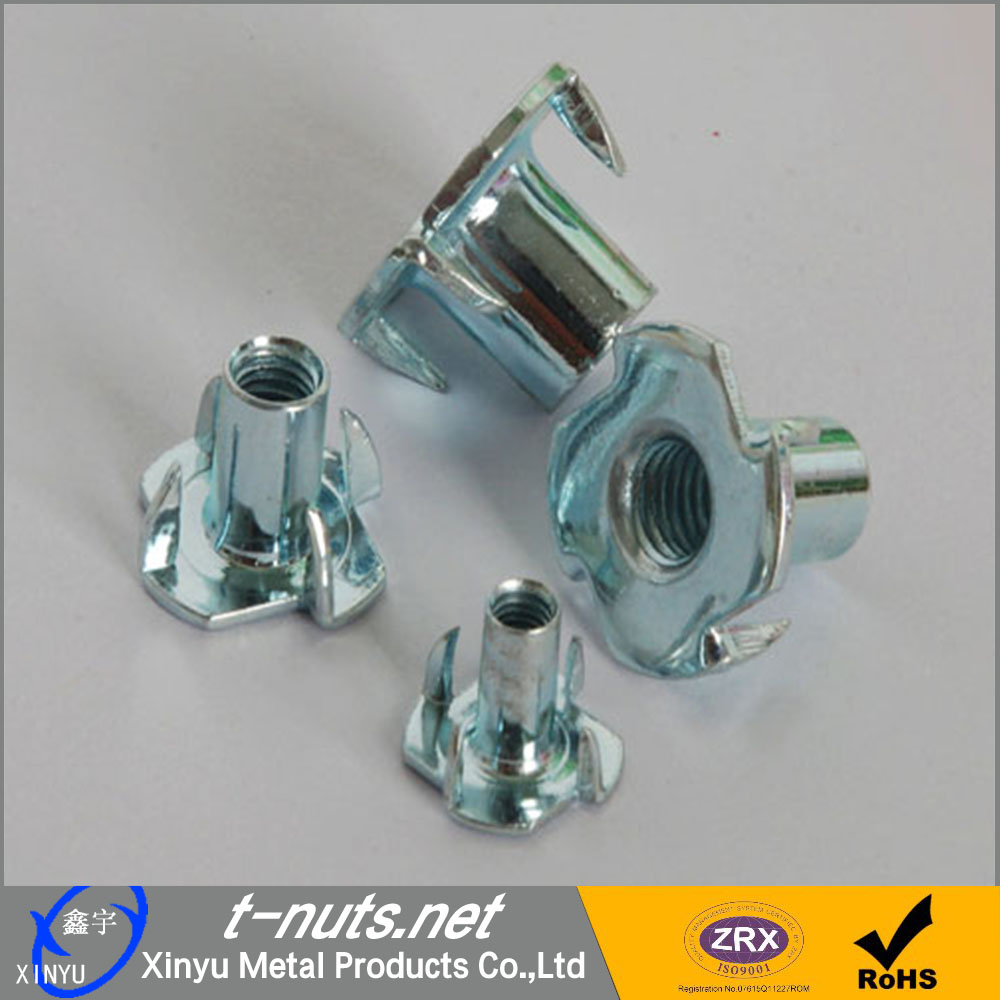 Tee Nuts with 4 prongs