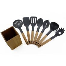 7PCS Cooking Nylon Utensils With Kitchen Holder