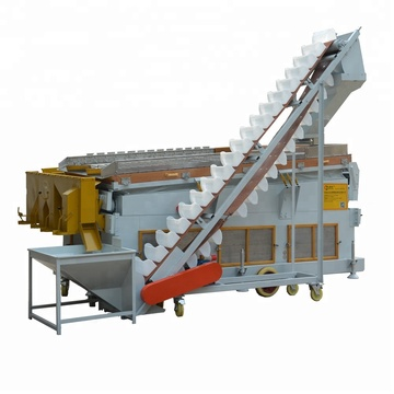 Energy saving gravity separator for soybean grain