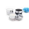 Wholesale high quality round black and white acrylic cream jar