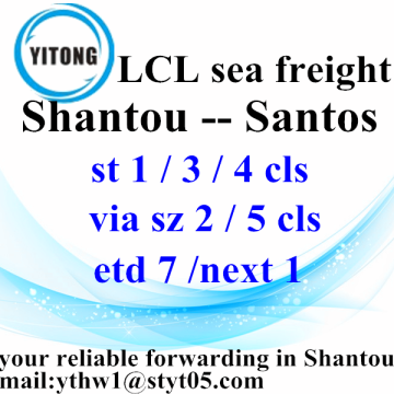 Cargo Ocean Freight Services from Shantou to Santos