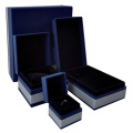 Blue embossing paper jewelry display box
