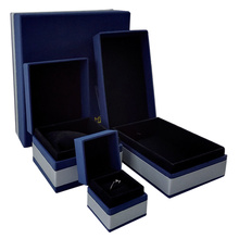 Custom Handmade Recycle Blue Cardboard Jewelry Boxes
