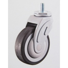 Thread stem TPR medical swivel caster wheel