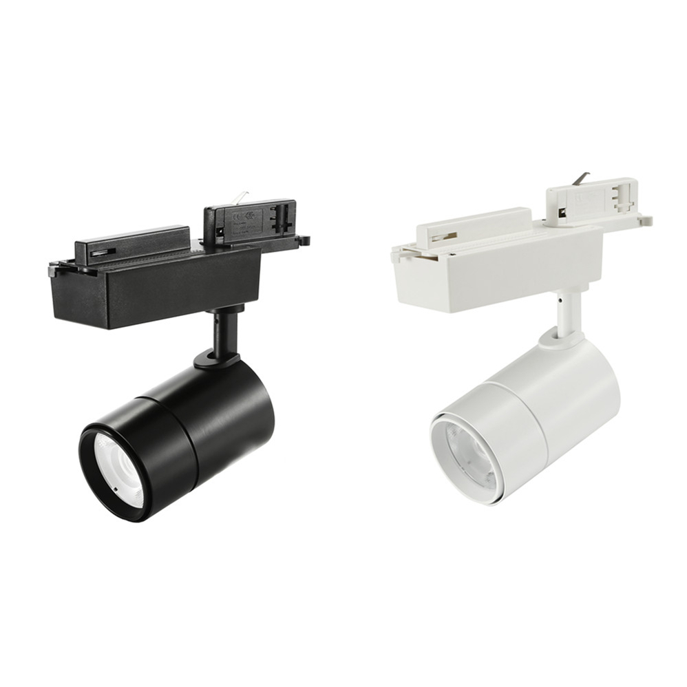 White and Black 18W LED Track Lights
