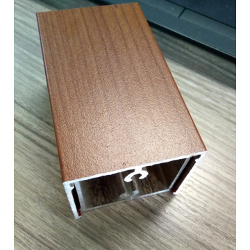 Aluminum Extrusion Profile Wood Grain / Anodizing
