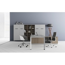 Modern wooden executive desk office table design
