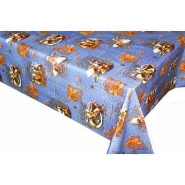 Elegant Tablecloth with Non woven backing Wipe