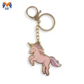 Design your own pink enamel unicorn keychain