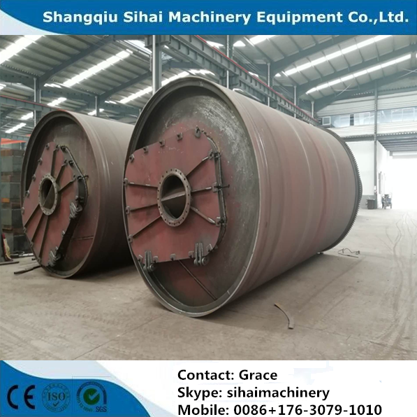 Newly designed waste tire recycling to oil plant