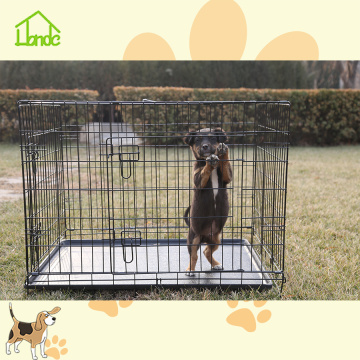 Colorful extra metal folding pet dog cage