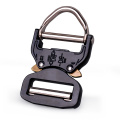 38mm Heavy Duty 18KN Steel Adjustable Belt Buckle Cobra Buckle For Military With D Ring