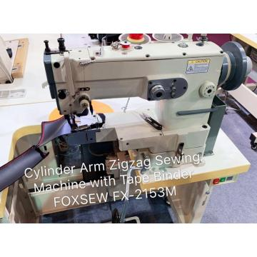 Direct Drive Cylinder Bed Zigzag Sewing Machine for Tape Binding on Sports Shoes