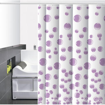 Waterproof Bathroom printed Shower Curtain Rail Argos