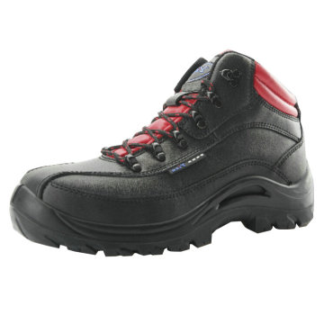 Smooth Leather Construction Steel Toe Shoes