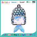 Mermaid laser sequins modelling backpack