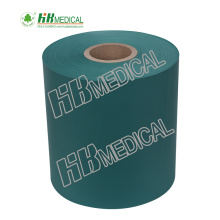 Three layer nonwoven coated PE polythelen film