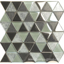 Artistic Pattern Color Mixed Decoration Glass Mosaic