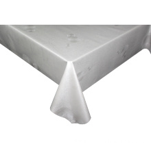 Solid Embossed Fabric Tablecloth over Table Covers