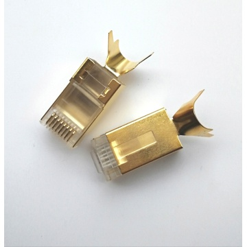 Conector Cat7 RJ45 STP CAT7 Enchufe modular