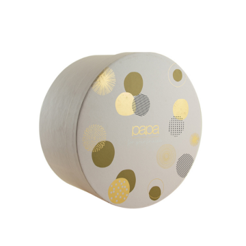 Pretty Small Cylindrical Custom Logo Paper Gift Box