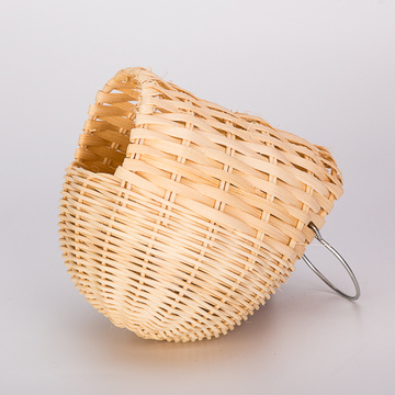 China for Wood Bird House Egg Shaped Large Rattan Bird Nest supply to South Korea Manufacturers