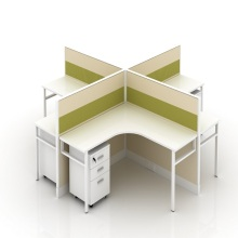 OEM for 4 Seat Office Workstation Cubicle Fabric Divider office Cubicle Desk Office Workstation export to Sudan Factory