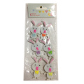 White Easter bunny shape sticker