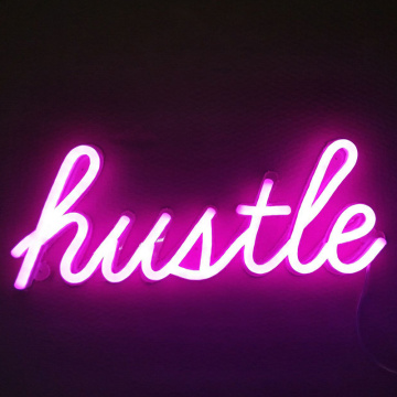 HUSTLE LED NEON SIGN