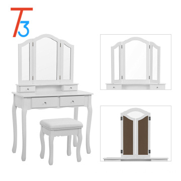 Designed for children with paulownia wood dressing table