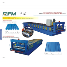 OEM for Arching Roof Panel Roll Forming Machine corrugated metal roofing sheet machine /corugated roof sheet making machine /corrugatd tile making machinery supply to Barbados Manufacturers