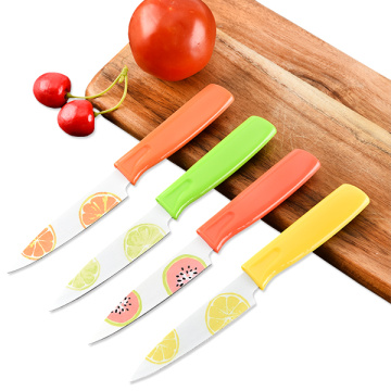 Set of 4 nonstick paring knife set