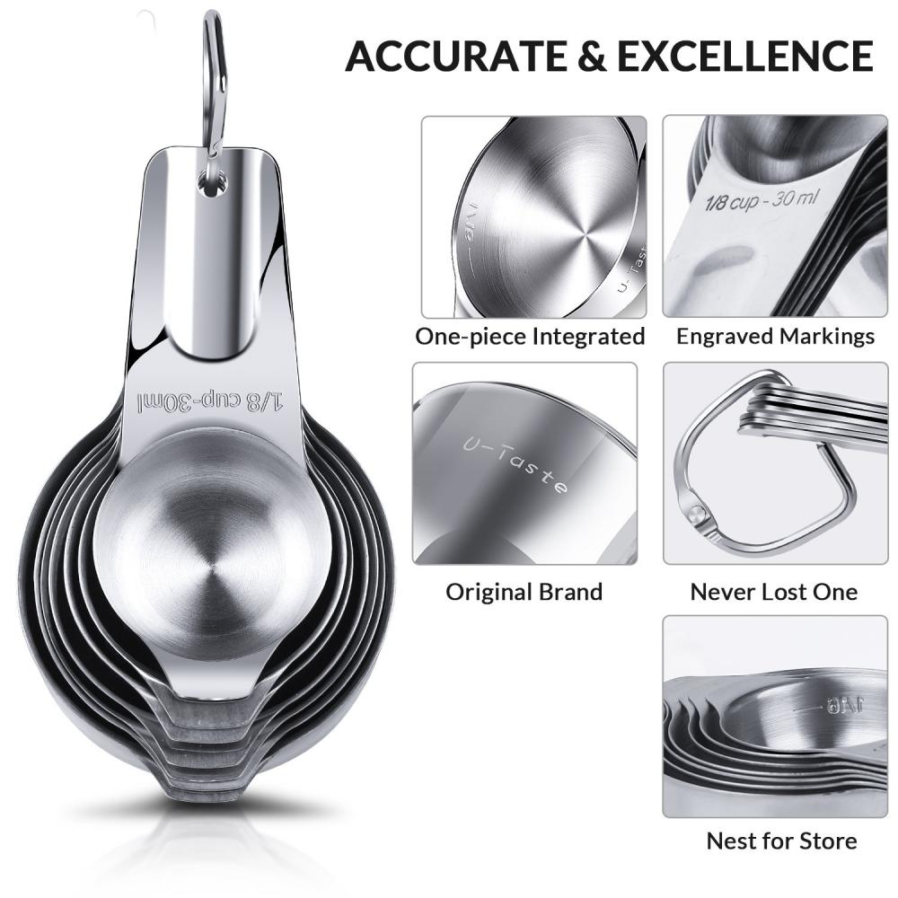 stainless steel kitchen teaspoon  measuring cup set