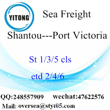 Shantou Port LCL Consolidation To Port Victoria