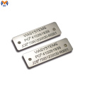 Custom metal tag numbers for equipment