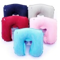 Foldable U-shaped bean inflatable travel neck pillow