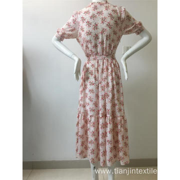 short sleeve dress in floral printing
