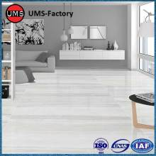 Large light grey marble look floor tiles