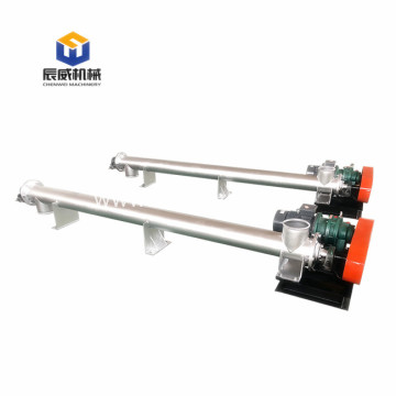 carbon steel industrial screw conveyor machine for sludge