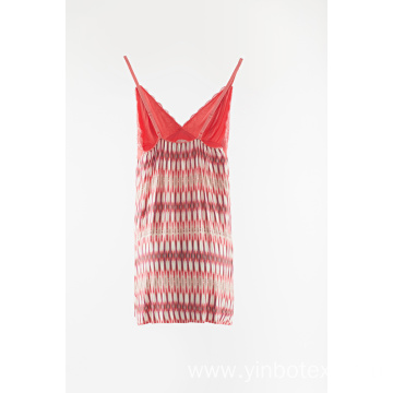 Knitting printed sun-top strapped top
