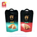 Shaped Plastic Stand Up Pouch for Nuts Packaging