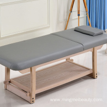 Salon Furniture Wooden Massage Table Adjustable Facial Bed