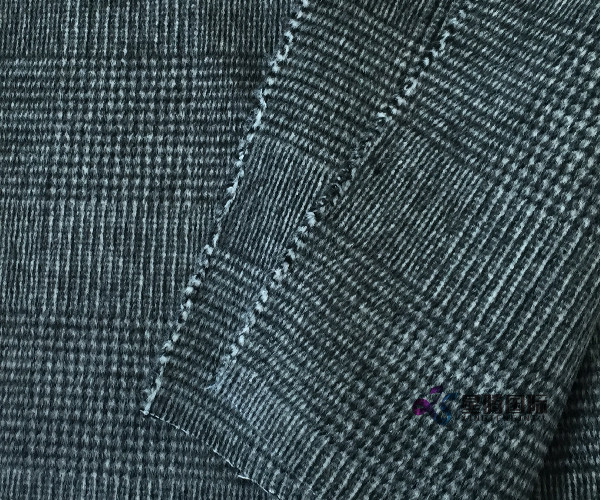 Houndstooth Wool Viscose Alpaca Blend Fabric