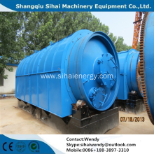 High oil yield waste tyre recycling machine