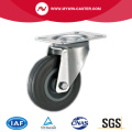 Bolt Hole Swivel Industrial Caster Gray Rubber