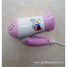 New Fashion 1200W Foldable Lovely Kids Hairdryer